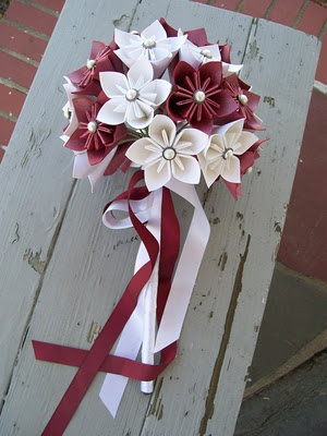 Pink Origami Bridal Bouquet