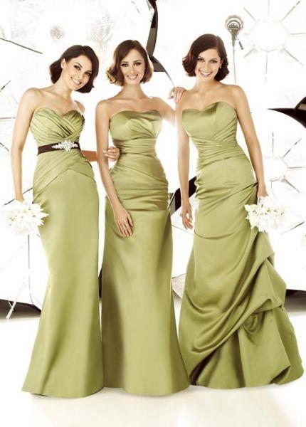 vestidos largos damas de honor