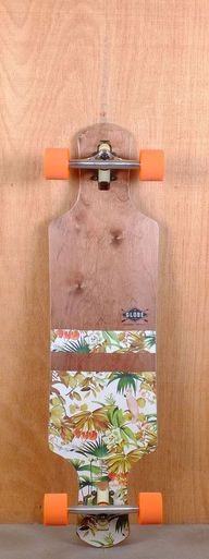"Globe Prebuilt 38"" Geminon Dark Maple Jungle Longboard"