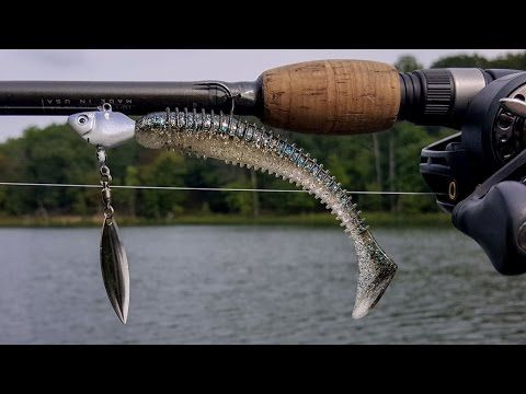 BASS FISHING (UNDERSPIN/KEITECH SWIMBAIT COMBO!) FALL IS COMING... - YouTube