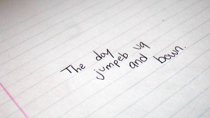 Sentence. Reversed Letters, Backward Letters