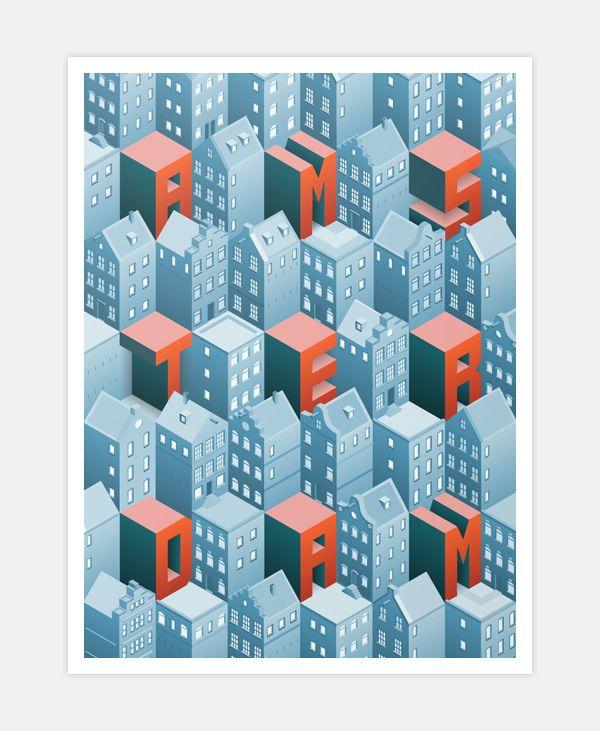 Isometric Amsterdam on Behance