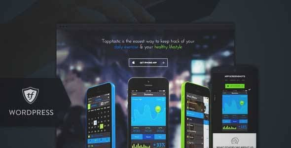 Download and review of Tapptastic – App WordPress Theme, one of the best Themeforest Technology themes