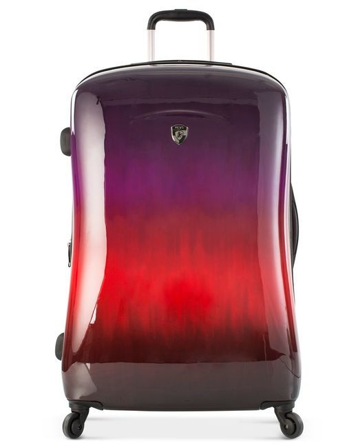 """Heys   Red Ombre Sunset 30"""" Expandable Hardside Spinner Suitcase   Lyst"""