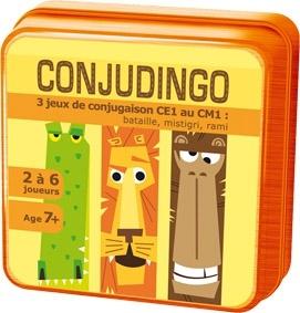 Le jeu de cartes ConjuDingo, qui permet de travailler toutes les conjugaisons au programme de CE1.