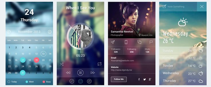 Fresh Collection Of Mobile App UI Kit (15 PSD Files) | mobile app ui design | Graphic Design Inspiration