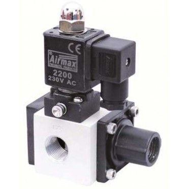 """Buy Airmax 3/2 Way Poppet Type Single Solenoid Valve 1/2"""" at our Online Purchase & Business Portal..."""