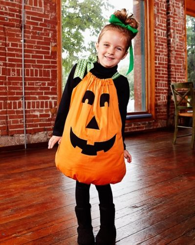 Easy Halloween Pumpkin Costume Sewing Project - Sew, What's New?                                                                                                                                                                                 More