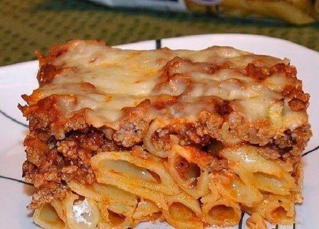 Спагетти соусом и с сыром запеченные в духовке