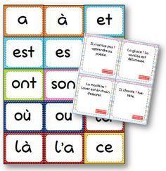 Jeux de carte sur les homophones grammaticaux - La classe de Mallory