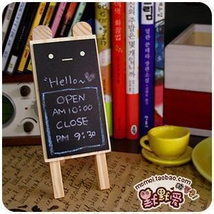 And silently love ♥ logs Children of Mini the Korean small blackboard message board the blackboard Day creative stationery (Cubs) - Taobao