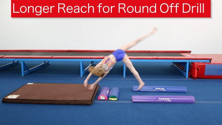 Longer Reach for Round Off The round off is one of the most technical skills to teach. Using Half Rounds as a visual aide will help the athlete understand th...