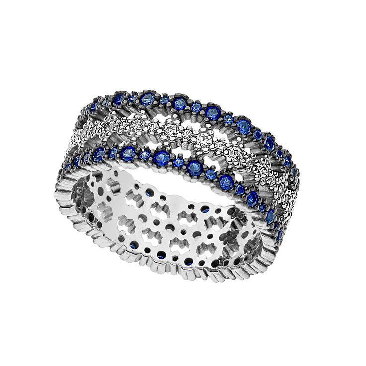 zaffiri, diamanti, #anello fascia Comete