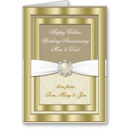 24 best 50th wedding anniversary cards images on pinterest happy 50th wedding anniversary greeting card m4hsunfo