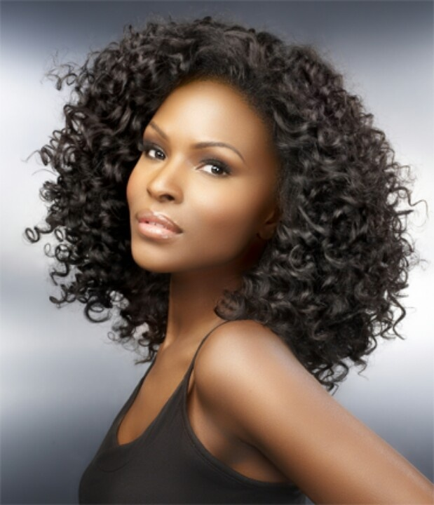 Curly weave. For the times when you can't achieve body of length