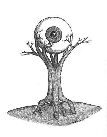 drawings cool trippy easy pencil dark drawing sketches sketch sketchbook disorder schizoaffective google gothic eyeball stuff graffiti trees evil sketchbooks