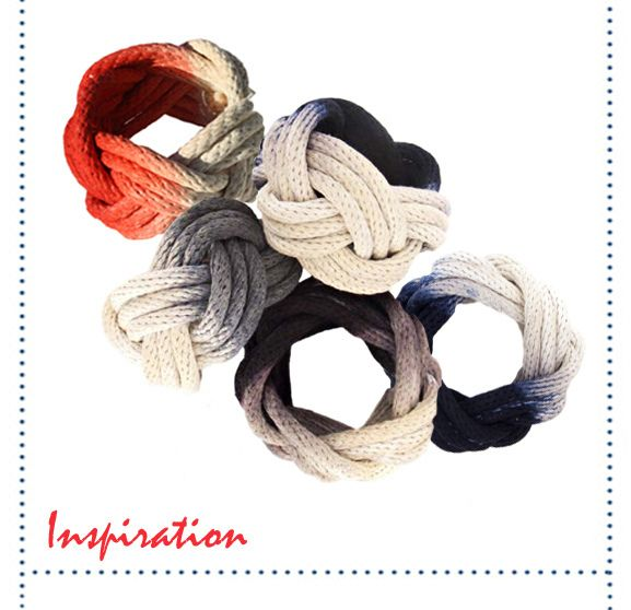 rope bracelets DIY, i wouldn't even have to dye them! Gray and maybe a summery teal? yes please.