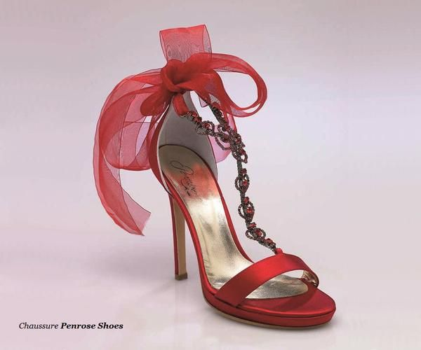 46131M18 Sandales soie rouge 12cm