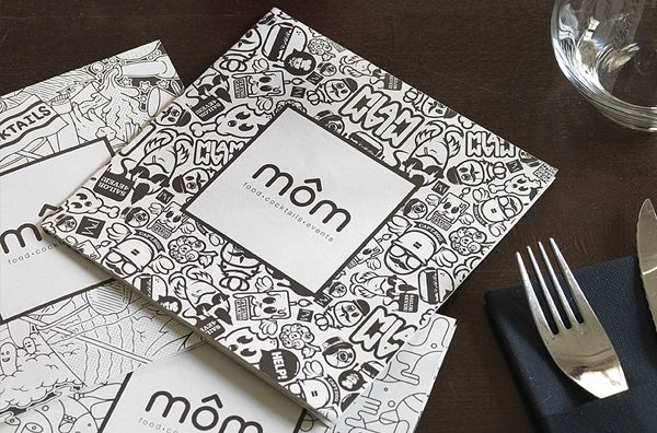 MÔM Restaurant (Paris, France) by Predrag Milankovic, via Behance