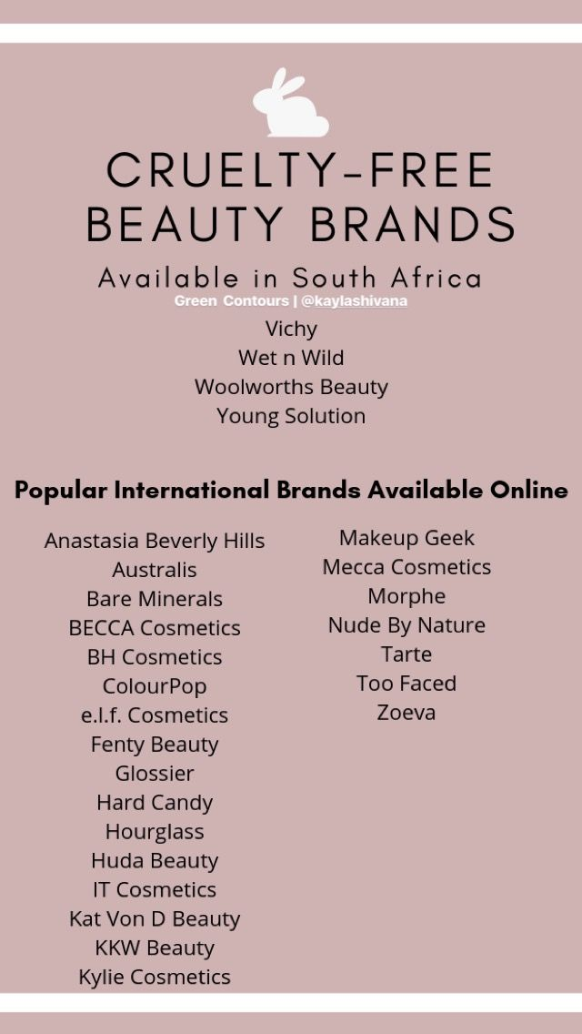 Cruelty Free Makeup Skincare And Hair Brands Available In South