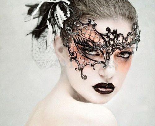 Prinzessin-Metall-Augenmaske-Maskerade-Venezianische-Maske-Abendkleid-Tanz-HUK