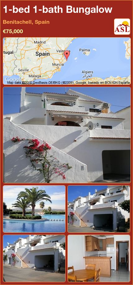 1-bed 1-bath Bungalow in Benitachell, Spain ►€75,000 #PropertyForSaleInSpain