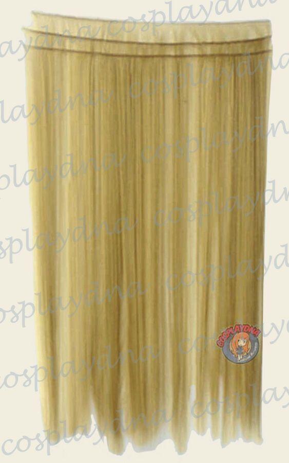 Beige Blonde Hair Weft Extention (3 pieces) – 40″ …