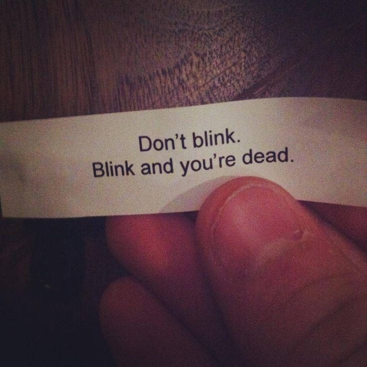 The scariest fortune cookie you could ever get. Especially if they aren't a doctor who fan...