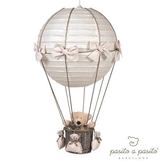 Verdens søteste ballonglampe, med en nydelig Teddybjørn - fra Pasito a Pasito, Farge Check Beige