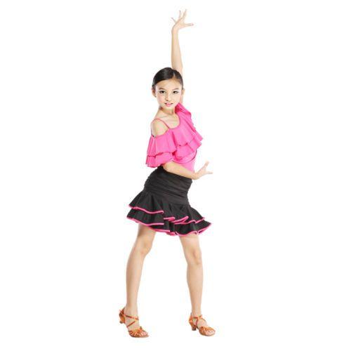 New Childrens Latin Dress Girls Dancewear Costume FY007 | eBay
