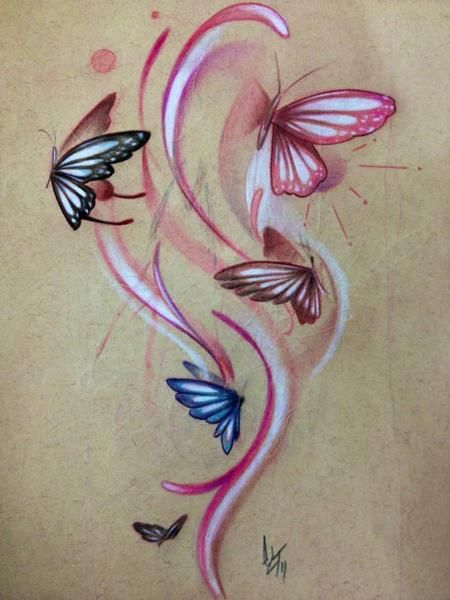 ... the Map Tattoo : Original Art : Tattoo Flash Design : butterfly sketch