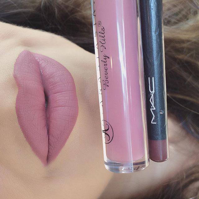 Favorite lip combo Dusty Rose liquid lips @anastasiabeverlyhills and @maccosmetics Soar lip liner #lips #lipstick #liquidlips