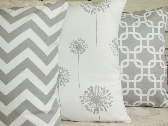 gray white decorative throw pillow covers nursery decor childrens pillows couch pillow bed sofa pillow cushion chevron three chevron sizes