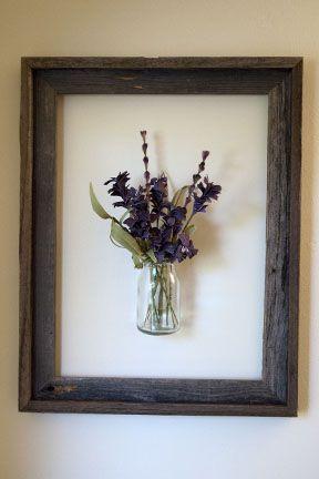 Framed Vase http://livingpractically.blogspot.com/search/label/Creating#