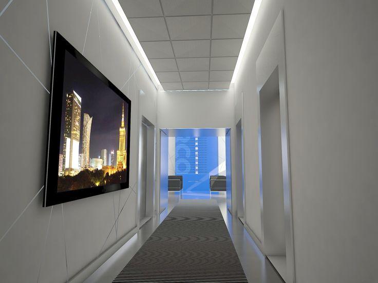 Korytarze w Orco - projekt / Project of a hallway
