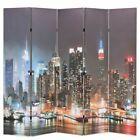 vidaXL room divider folding 200x170cm New York by night screen partition #Deco …  – Dekorationen