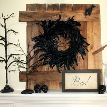 16 best Halloween Mantle/Shelves images on Pinterest DIY