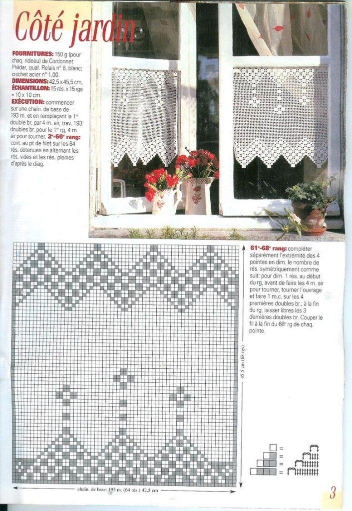 rideau, crochet, phildar, coton, editions, saxe, art, crochet