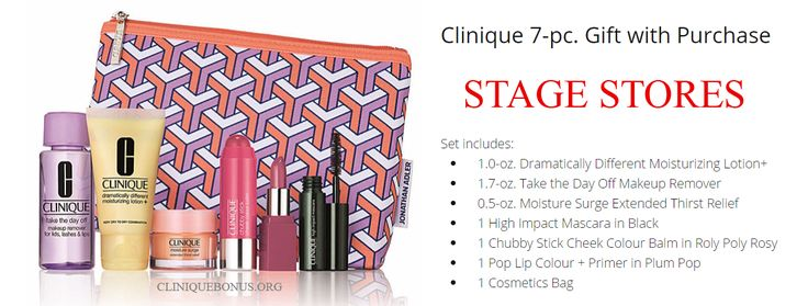Clinique GWP starts today at Stage stores. This is probably the only one Clinique promotion in July. http://cliniquebonus.org/clinique-bonus-time/