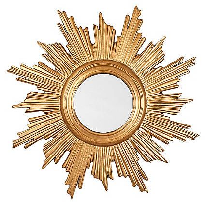 If I'm going to cave in on the DIY sunburst mirror trend, this is the one I'll make