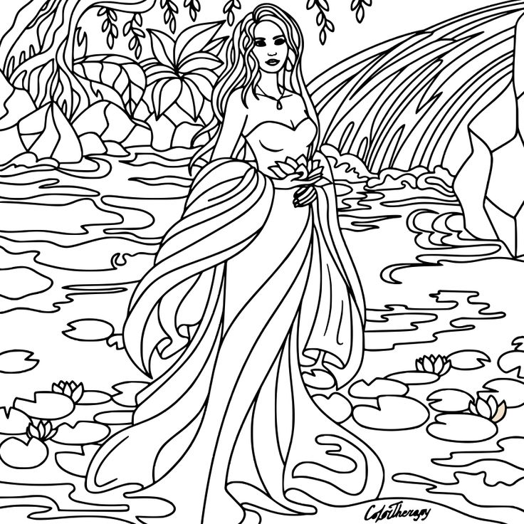 Coloring pages for adults app ~ Best 898 Beautiful Women Coloring Pages for Adults ideas ...