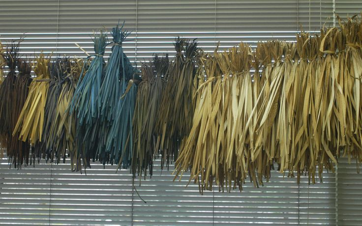Found Muji - dyed reeds or grasses