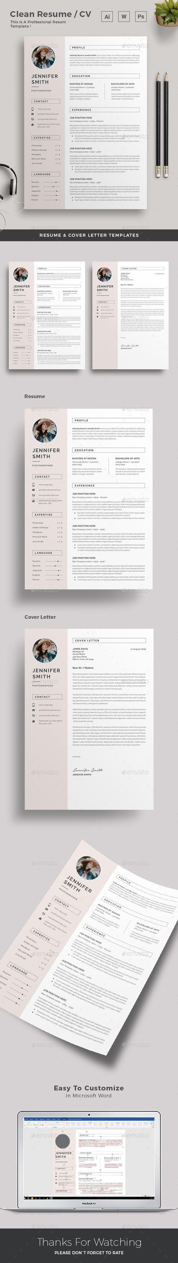 Resume #resume word #feminine • Download ➝ https://graphicriver.net/item/resume/21368771?ref=pxcr