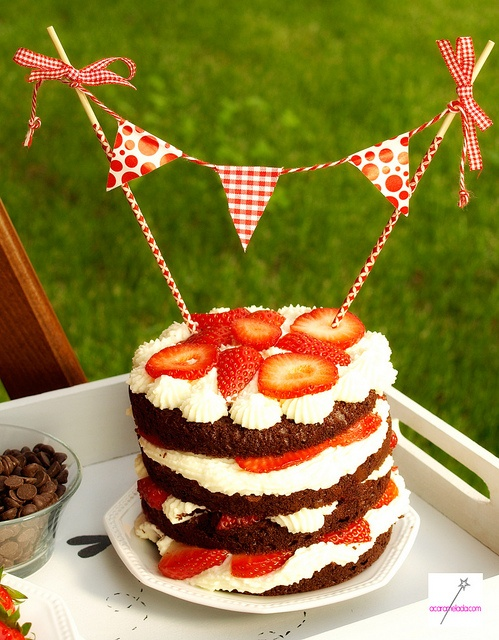 picnic for two with a slice of cake