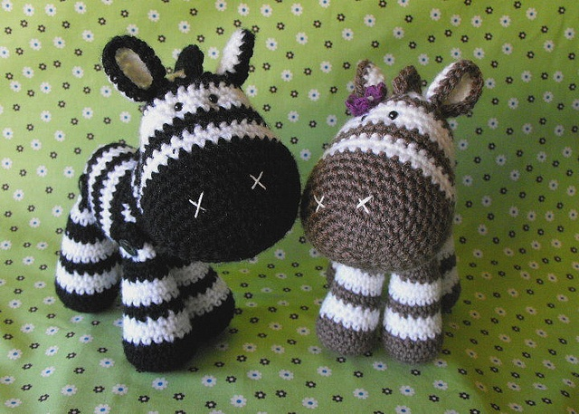 Free Crochet Zebra Patterns : zebras