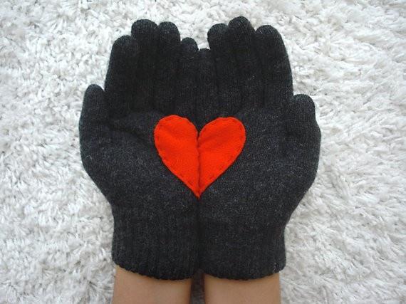 Heart Gloves by Jane Doe