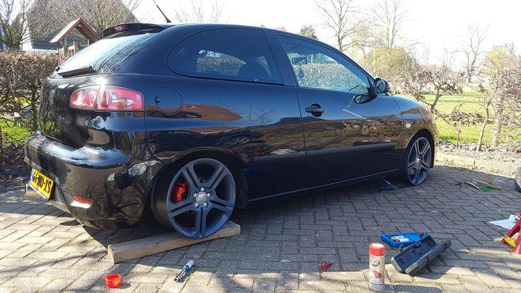 Testfitting my freshly painted FR rims. Ibiza 6L TDI Sport