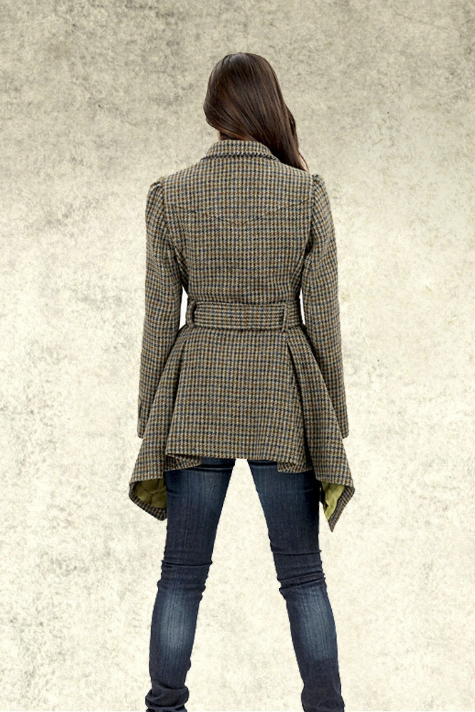 Harris Tweed Lindsey Ladies Flared Trench Style Coat | Tweed & Country - Country Wear