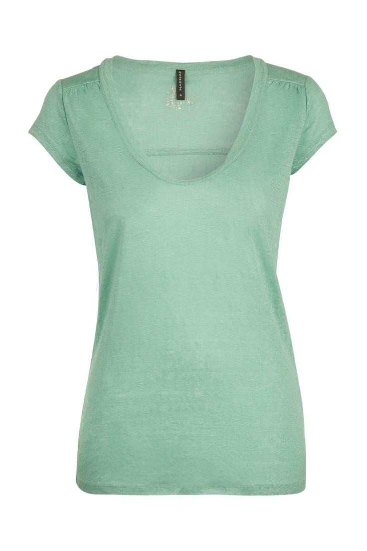 Tee-shirt échancré femme - Tops - femme - NAF NAF