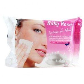 Lenço Umedecido Removedor de Maquiagem Ruby Rose